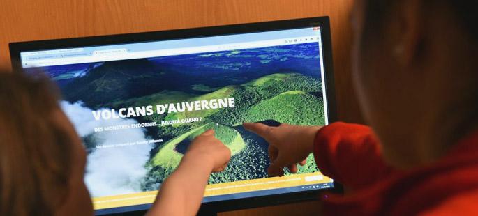 L'atelier numérique interactif de Vulcania