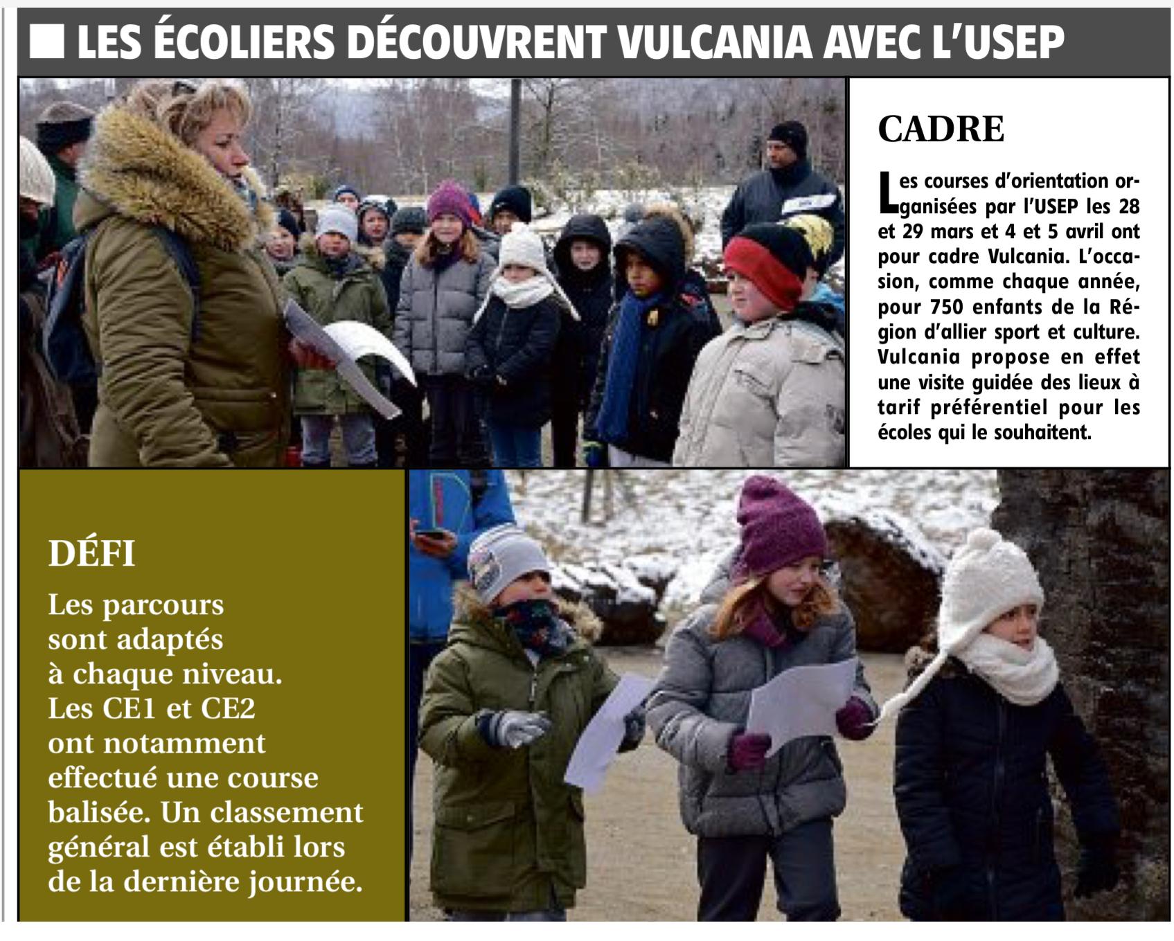L'USEP découvre le parc à thème Vulcania