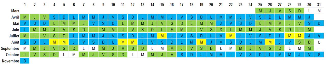calendrier d'ouverture du parc Vulcania pour préparer votre visite scolaire