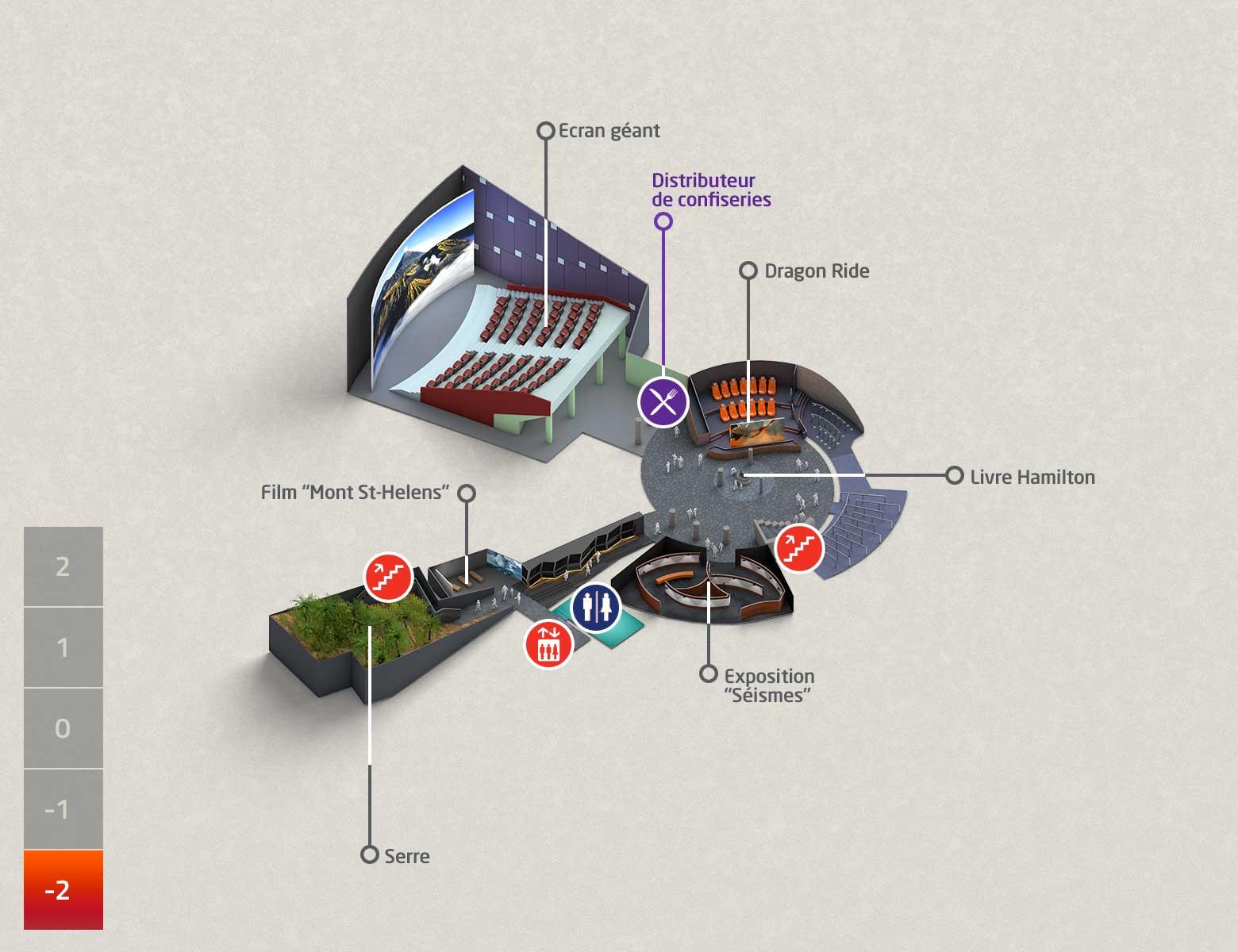 Séminaire d'entreprise - Plan du Parc Niveau -2