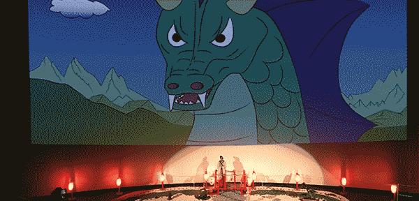 """""""Contes et légendes"""" à Vulcania : une animations pour les enfants de 3 à 10 ans avec musiques, chants et projections sur le thème des dragons"""