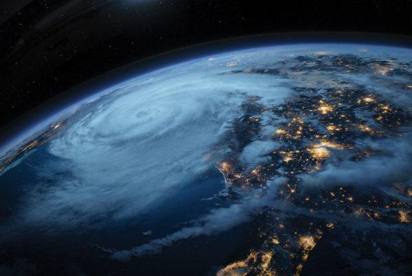 Film Ouragan sur écran géant à Vulcania