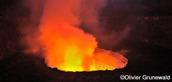 Nyiragongo, plus grand lac de lave actif de la planète Terre
