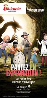 Brochure 2020 du parc Vulcania en Auvergne