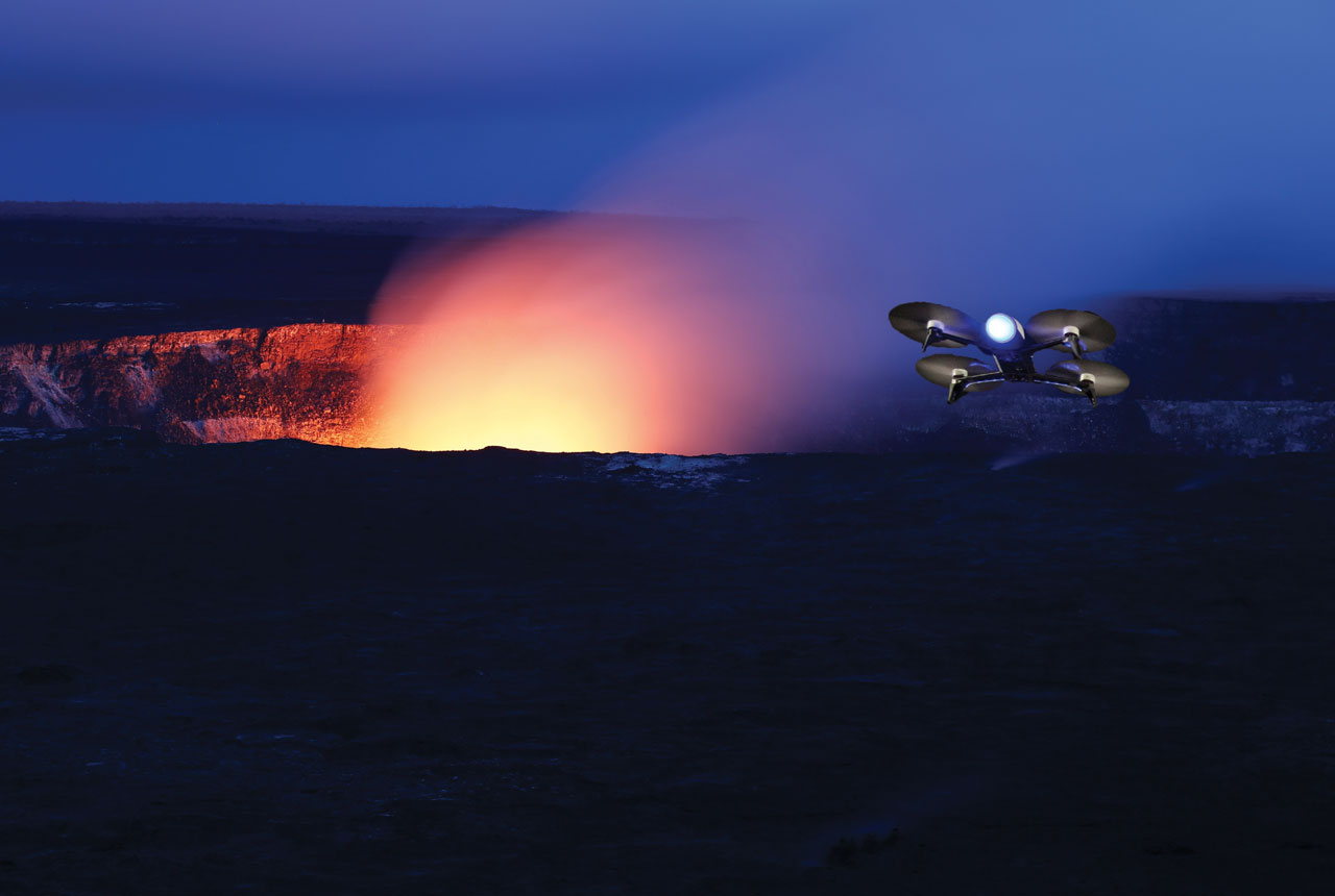 use of drones to science ans volcanism's service