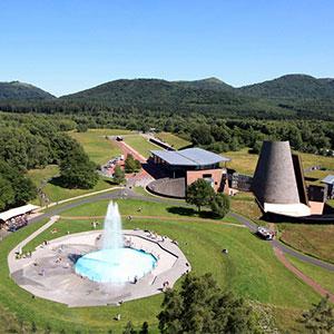 Vue aérienne parc Vulcania