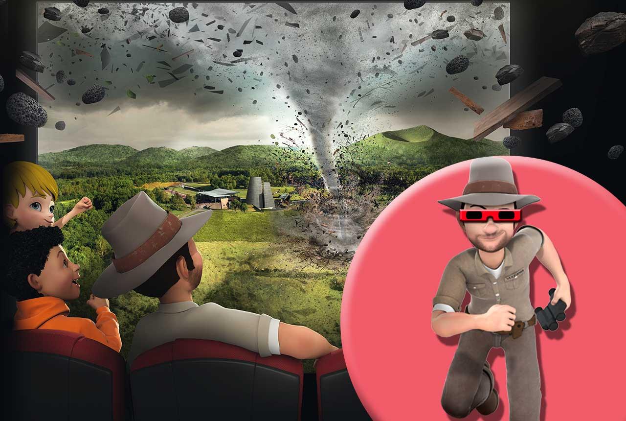 Film Ouragan en version 3D de 40 minutes sur écran géant à Vulcania