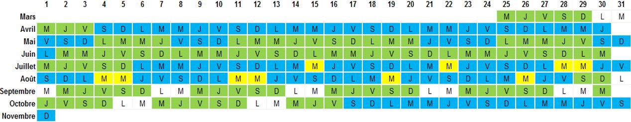 Calendrier Puy Du Fou 2020.Calendrier Dates Et Horaires D Ouverture Du Parc Vulcania