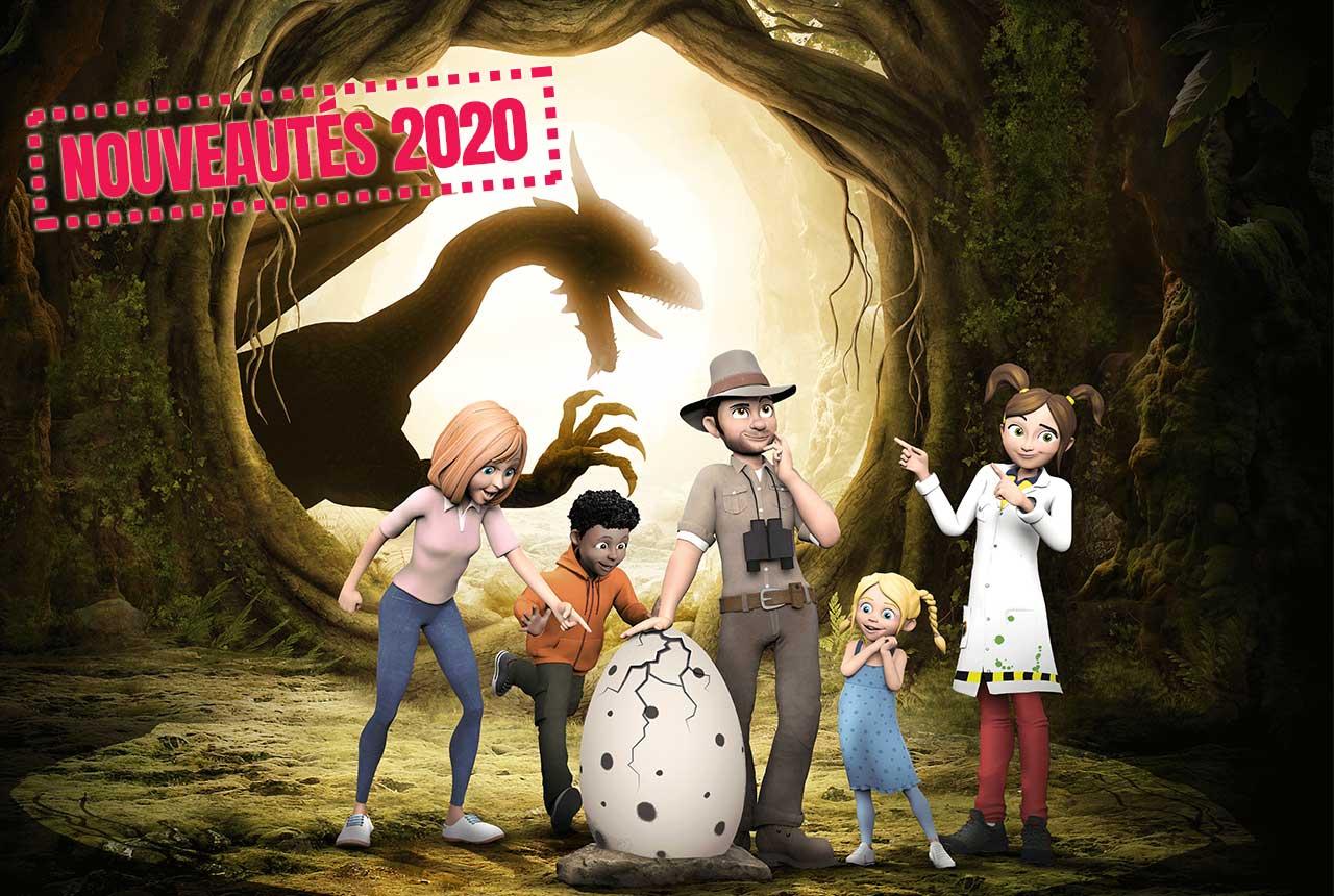 Nouveautés 2020 au parc Vulcania en Auvergne : Dragon Ride 2 et la Forêt des Dragons