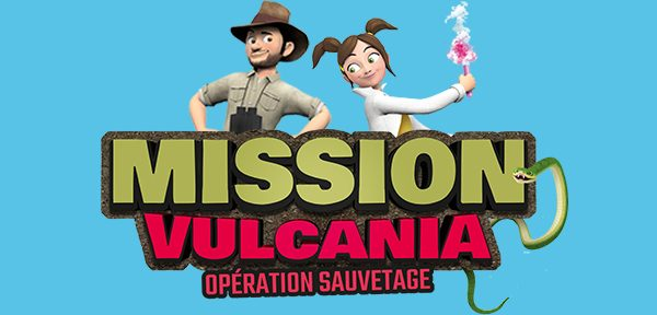 """Nouveauté 2020 : Film d'animation """"Mission Vulcania : Opération sauvetage"""" en 3D sur écran géant"""
