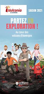 Brochure du Parc Vulcania en Auvergne : Saison 2021