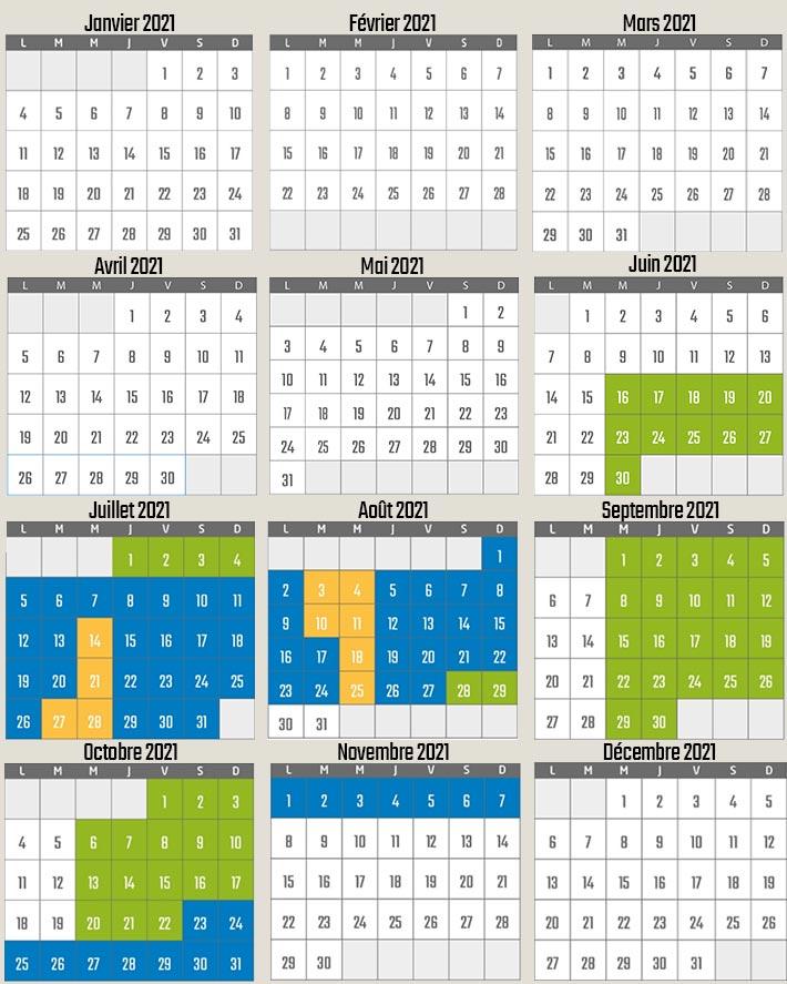 Calendrier et horaires d'ouverture 2021 du parc Vulcania